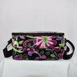 Vera Bradley PURPLE PUNCH Mini Cooler Lunch Bag